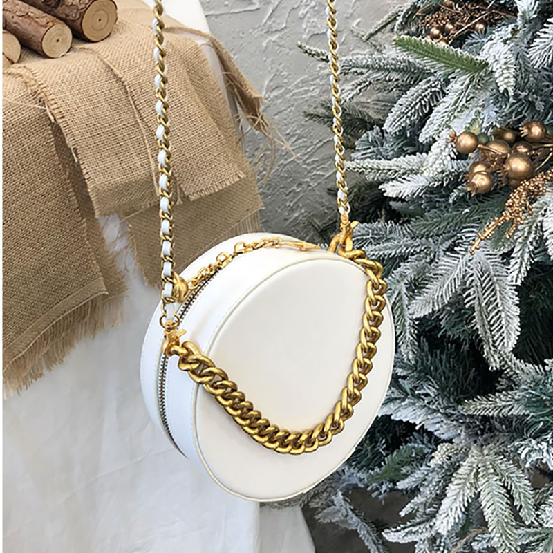 Customized high quality Genuine Leather bags for women 2019 NEW style Cowhide Chain Circular bagCustomized high quality Genuine Leather bags for women 2019 NEW style Cowhide Chain Circular bag