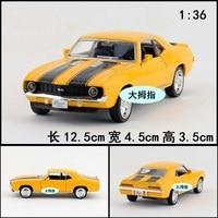 1 36 Kinsmart Alloy Mini Car Model Chevrolet Silverado CAMARO SS Toy Gift 1pc