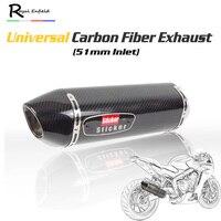 51 мм Yoshi универсальный мотоцикл выхлопной R77 углеродное волокно Глушитель Трубы Escape Moto Racing для cbr650 1000 cb650f gsxr600 750 MT09