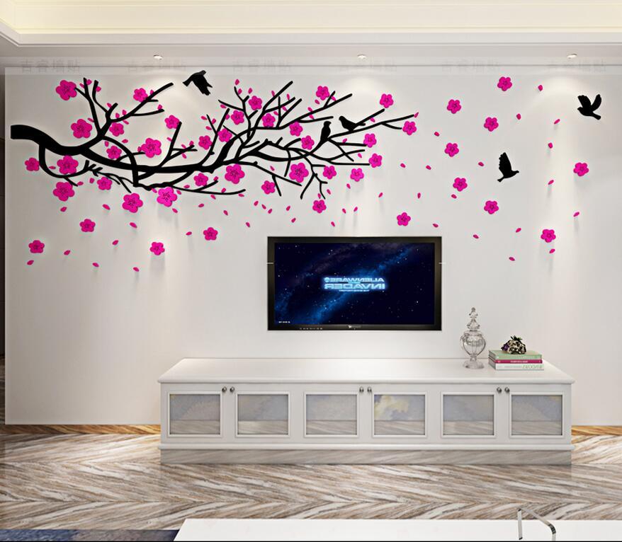 2017 3D tredimensionella väggklistermärken TV väggsoffa bakgrund - Heminredning - Foto 4