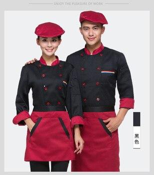 55fbc99d0 Alta calidad Chef uniformes ropa larga de manga corta de las mujeres de los  hombres servicios de comida cocina ropa 5 Color uniforme de Chef