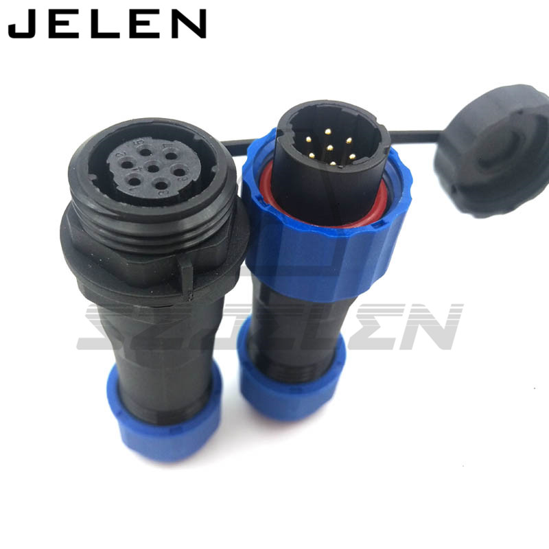 SD16 weatherproof male female 7 pin connectors,  LED waterproof connector, wire connector IP68 lemo 1b 6 pin connector fgg 1b 306 clad egg 1b 306 cll signal transmission connector microwave connectors