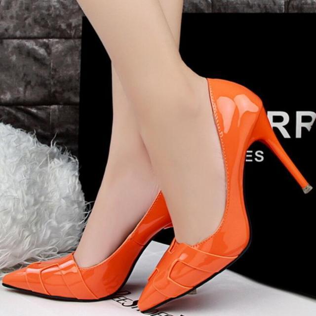 {D & H} Марка Обуви Женщина На Высоких Каблуках Женщины Насосы Стилет Тонкий Каблук женской Обуви Обнаженной Отметил Toe Высокие Каблуки Свадебная Обувь