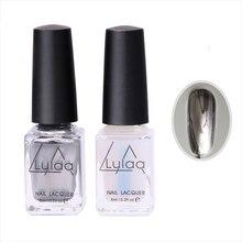 1 Set Gel Nail Polish Mirror Silver Gel Polish Metallic Nail Polish Gel Nail Polish Nail Gel