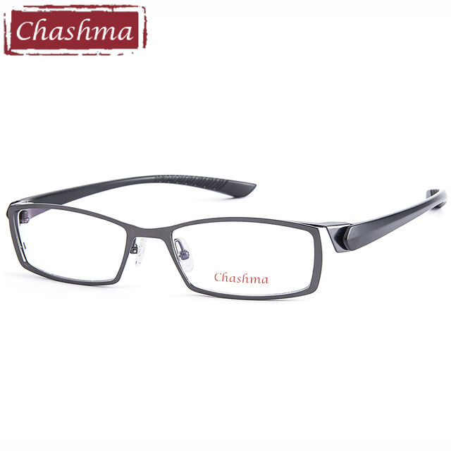 01181d9d84 Chashma Brand Gentlemen Titanium Alloy Eyeglasses Full Spectacle Frame  Ultra Light Myopia Glasses Frame Male Eyeglasses