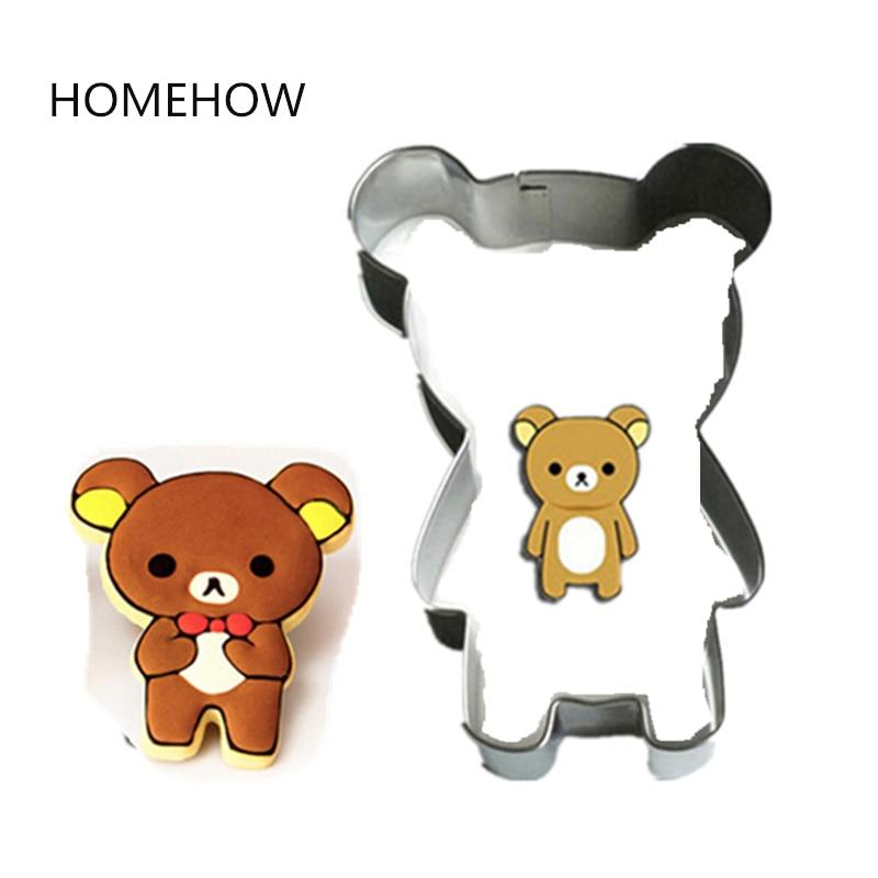 ⓪1 unid serie Animal lindo oso cortador de galletas 7.5*5.5 cm oso ...