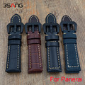 Black Blue Brown Retro Leather Watchbands, Classic Men 22MM / 24MM Watchbands,For Panerai Strap+Black steel Buckle Fast Delivery