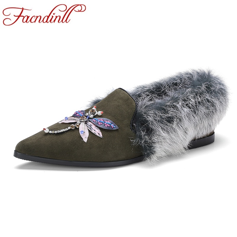 FACNDINLL 2018 new fashion spring women flats shoes genuine leather flat heels pointed toe shoes woman dress casual party shoes spring women red shoes flat pointed toe genuine leather high 2017 new woman shoes high quality casual flats big size 41 42 43