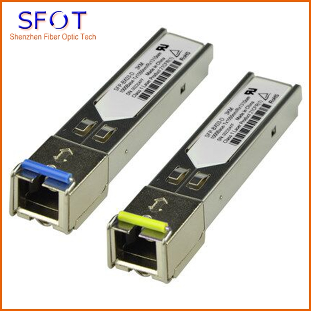 1.25G SFP Module Single-mode Single Fiber SC Port 3KM Compatible With Huaway H3C, Etc