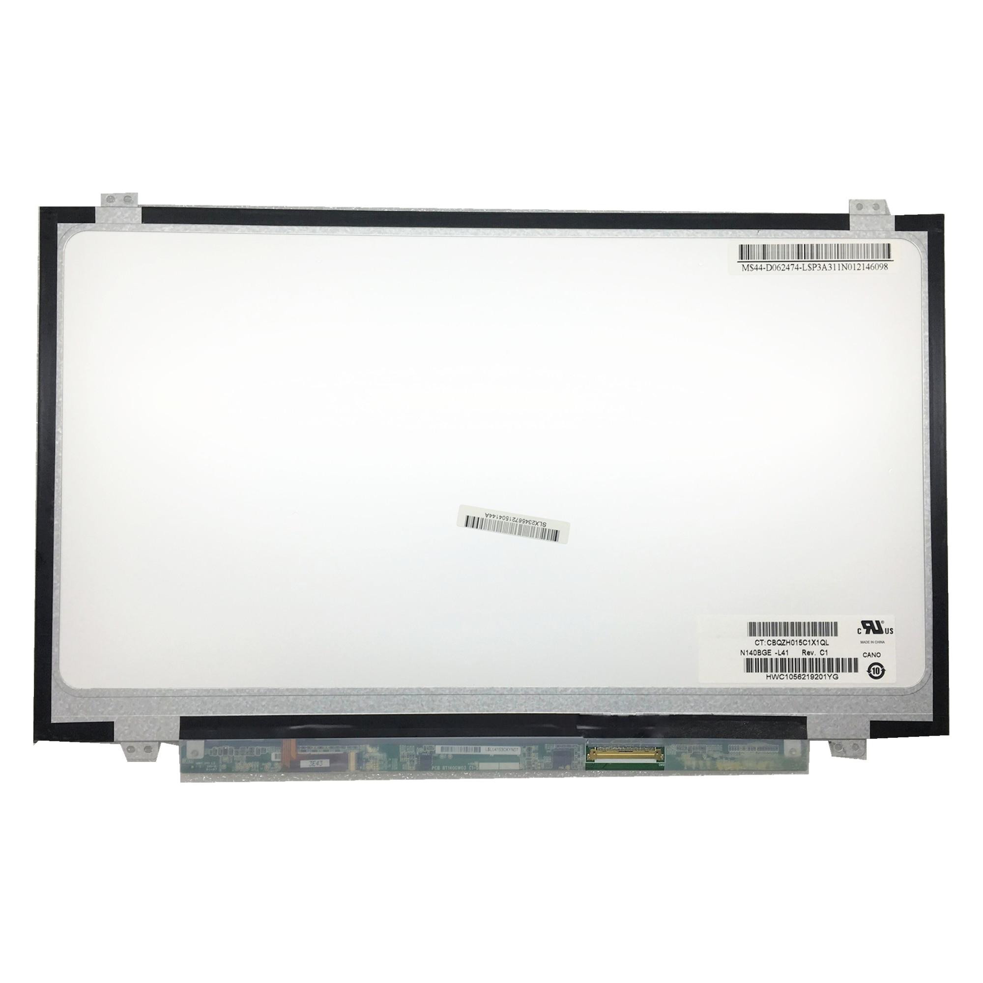 Free shipping N140BGE L41 N140BGE LA3 HSD140PHW2 N140BGE L33 N140BGE L42 N140BGE L43 Laptop LCD Screen