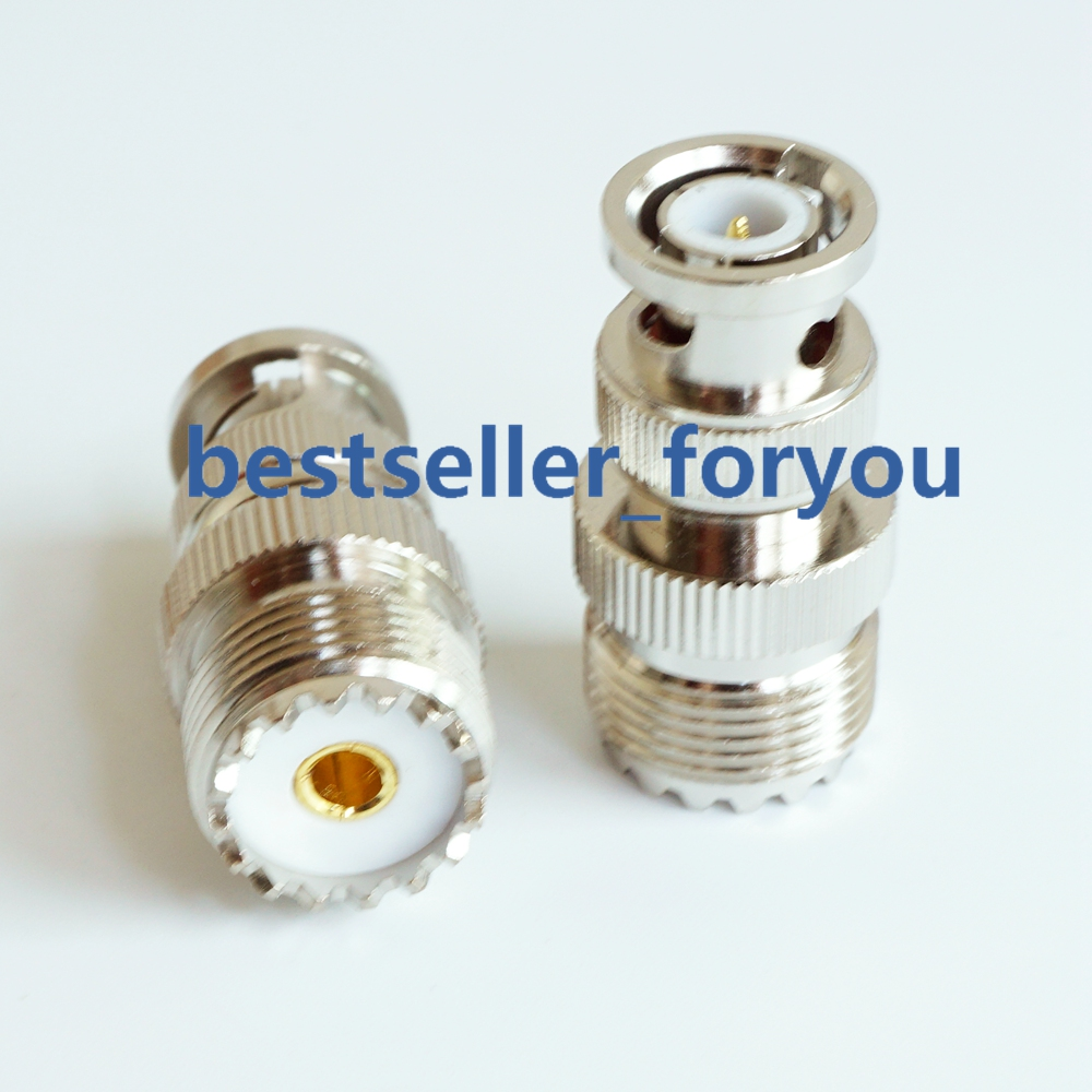 UHF female SO239 SO-239 to BNC male coax adapter; Fast Shipping; US Seller