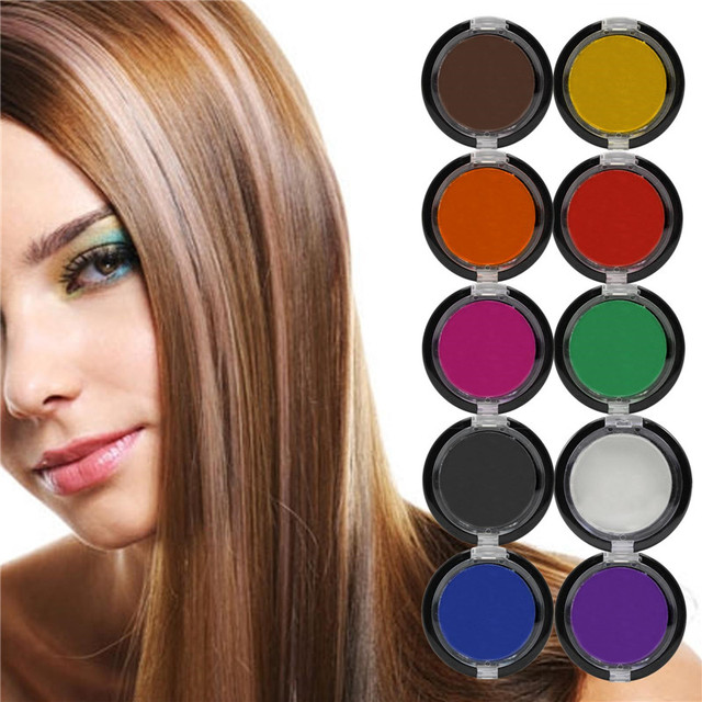 2016 Non toxic Professional Temporary Hair Dye Powder cake Styling ...