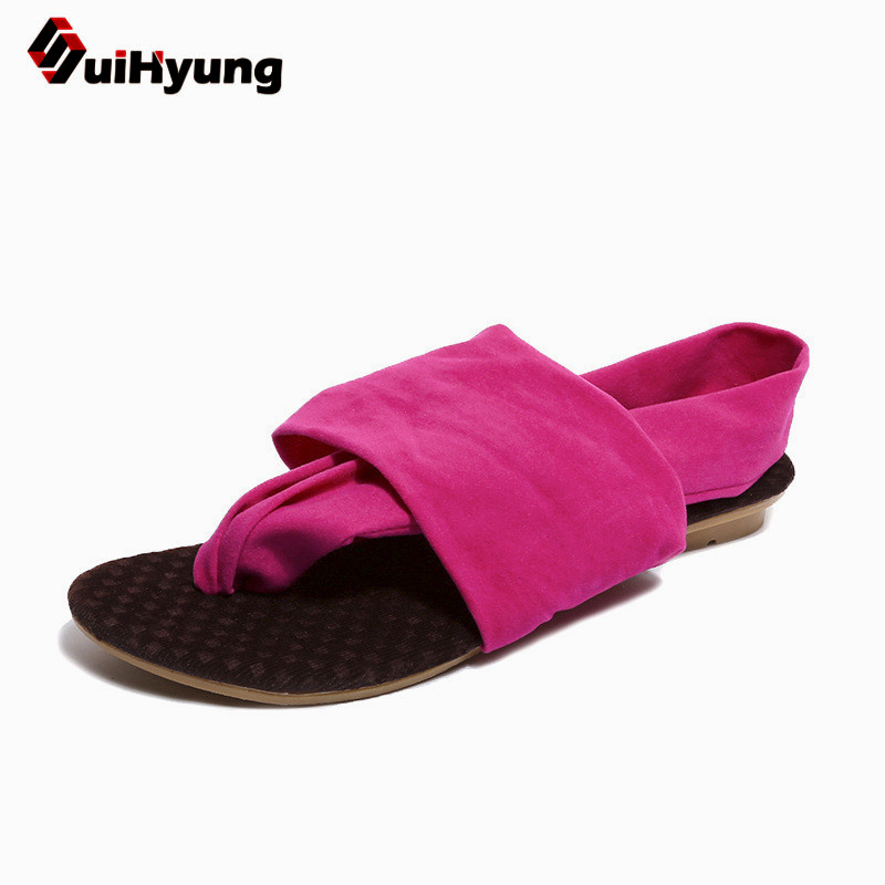Suihyung Woman Slippers 2018 New Summer Women Flats Slippers Plus Size Flip Flops Ladies Casual Sandals Slides Shallow Slippers