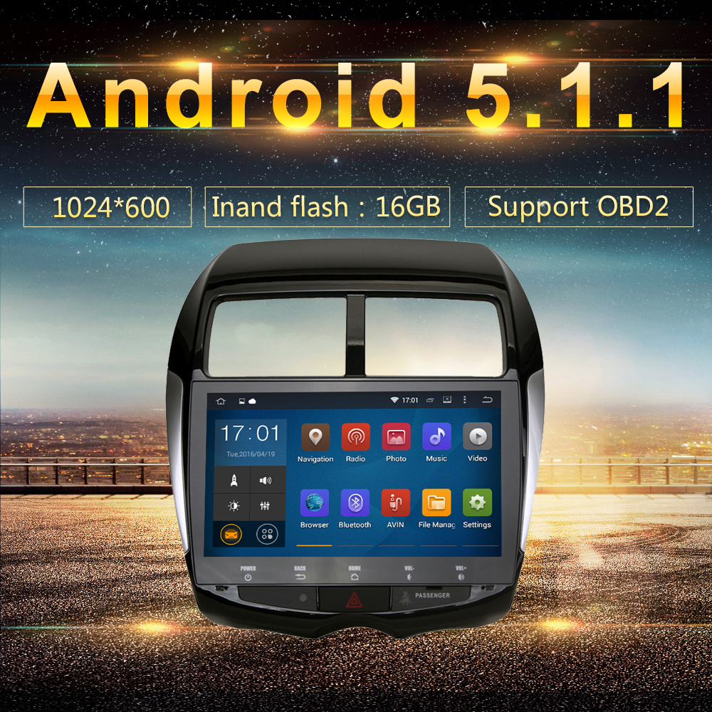 Android 5 1 2Din Car GPS Player Navi for Mitsubishi ASX RVR Outlander Sport Citroen C4