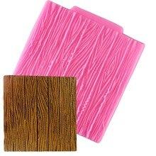 1Pc Tree Bark Textureไม้รูปแบบFondantซิลิโคนแม่พิมพ์ตกแต่งเค้กน้ำตาลแม่พิมพ์เบเกอรี่Sugarcraftช็อกโกแลตMould
