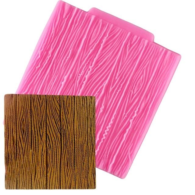 1pc Tree Bark Texture Wood Pattern Mat Fondant Silicone Mould Cake Decoration Sugar Mold Baking Sugarcraft Chocolate Mold