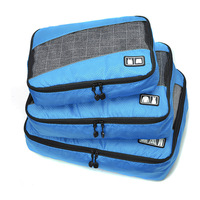 3 Pcs Set Unisex High Grade Oxford Cloth Packing Cubes Clothing Light Luggage Travel Bag Shirt
