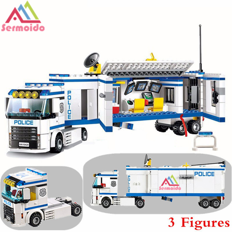 394pcs 2016 10420 City Police Fluidity Police Station Building Blocks Assembled Kids Toys Compatible With Lepin