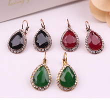 CXW Retro Bohemian stud earrings for women with retro alloy and colorful jewelry ST06