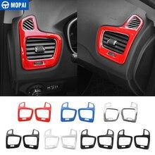 MOPAI ABS Car Interior Dashboard Side Air Conditioner Vent Decorazione Adesivi per Jeep Compass 2017 Up Accessori Car Styling