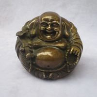 Collectible Chinese Decorated Old Copper Carved lucky Buddha Sculpture /Antique Buddha statue 01