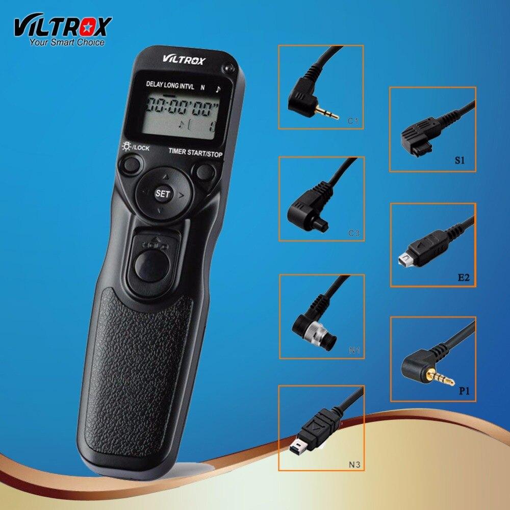 Viltrox Caméra Sans Fil Minuterie Déclencheur À Télécommande pour Canon 77D 5D Mark IV Nikon D80 Pentax Panasonic Olympus DSLR