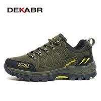 DEKABR Brand Outdoor Venture Men Climbing Hiking Shoes Women Breathable Ventilator Hunting Trekking Sport Shoes Big