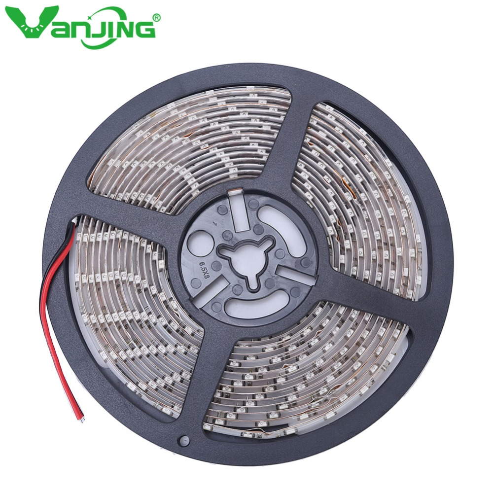 IP65 Waterproof 300leds / 5M SMD 3528 RGB LED רצועת גמיש דיודה קלטת 12V LED רצועת 60LED / M Ledstrip עבור קישוט הבית