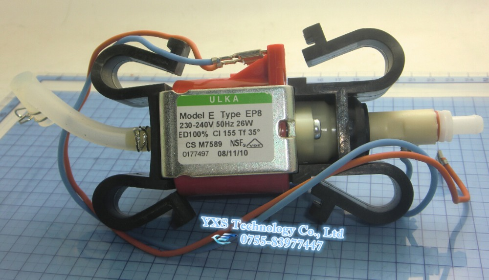 ФОТО Free shipping EP8 ULKA Electronic Coffee Machine Pump 230-240V/Self-priming Pump at 50Hz 26W Brand New and Original