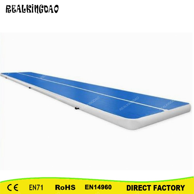 REALKINGDAO 4*2*0.2m Tumble Trampoline Air Track Inflatable high quality 4 1 0 2m inflatable air track gymnastics air track trampoline for water games