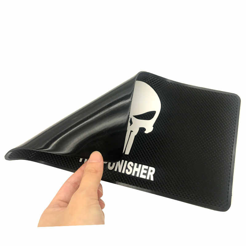 27 centimetri * 15 centimetri di Magic Car Anti-Slip Dashboard Appiccicoso Super nave di goccia Pad Non-slip Zerbino per the punisher Punire logo car styling