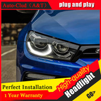 Auto Clud Car Styling For VW Scirocco Headlights 09 14 15 For Scirocco Head Lamp Led