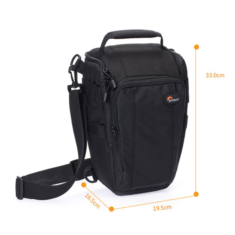 Lowepro Toploader Zoom 55 AW Digital SLR Camera Triangle Shoulder Bag Rain Cover Portable Waist Case Holster For Canon Nikon