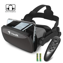 VeeR Falcon VR Headset Universal Virtual Reality Goggles Box with Controller for 4.7-6.3 Smartphones