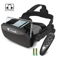 VeeR Falcon VR Headset Universal Virtual Reality Goggles VR Box with Controller for 4.7 6.3 Smartphones