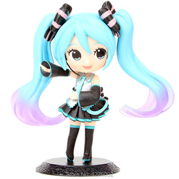 Hatsune Miku Q posket PVC Action Figure Anime Vocaloid Figurine Collectible Model Kids Hot Toys Doll for Children Gift 14CM q posket characters the little mermaid princess ariel pvc figure collectible model toy 11cm