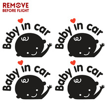 купить Baby in Car Waving Baby on Board Safety Sign Cute Car Decal Car styling 3D Cartoon Stickers Car Accessories по цене 52.76 рублей