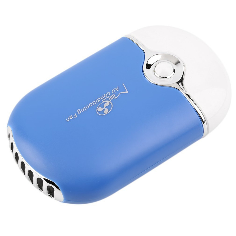 Portable Mini Handheld Air Conditioning Humidification Cooling Fan USB Cooler USB Rechargeable Desk Air Conditioning Fan dmwd mini portable handheld usb air conditioning fan battery rechargeable led light cooling fan 3 gear speed desktop lamp cooler