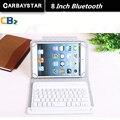 РУССКАЯ КЛАВИАТУРА Bluetooth 8 дюймов tablet keyboard для Использования Испания Язык Кожа Micro USB Клавиатуры Пластины Планшетного Устройства