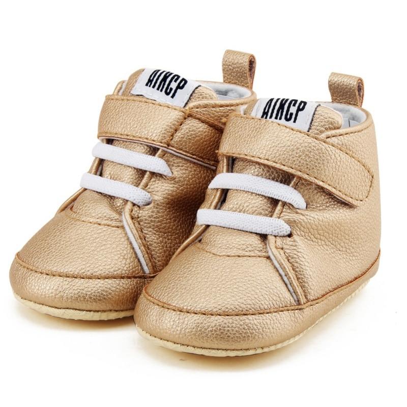 Toddler Newborn Shoes First Walker Pu Leather Autumn Winter Fashion Baby Kids Boy Girl Soft Sole Canvas Sneaker 0-12Months