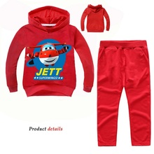 Z&Y 2 14Years Costume Jett 2Pcs Suits Super Wings Tracksuit Autumn Baby BoysClothing Sets Children Girls Fashion Brand Clothes