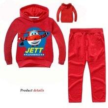 Z & y 2 14years terno jett 2 pçs ternos super asas treino outono bebê boysclothing define crianças meninas da forma roupas marca