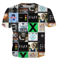 Fall Out Boy/Twenty One Pilots/Panic At The Disco/Pierce The Veil print 3d t shirt men/women summer style casual tee  tops