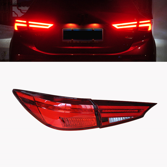 カー点滅2個Mazda3アクセラ2014 2015 2016 2017テールライトマツダ3 M3 ledテールライトledリアランプcertaテールライトランプ