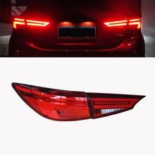 Car flashing 2pcs for Mazda3 Axela 2014 2015 2016 2017 taillights Mazda 3 M3 LED Tail Light LED Rear Lamp Certa taillight lamp