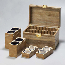 free shipping,80 pluggable silver camphor wood solid crystal box collection empty box.