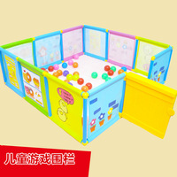 Foldable Children's Play Fence Dollhouse Ocean Ball Pool Game Room Guardrail Children Baby Playpen Tent Play Yard
