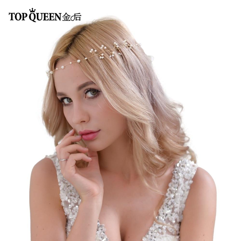 TOPQUEEN HP39 Wedding Tiara Bridal Headband Wedding Headwear Wedding Hairband Bridal Headwear Wedding Hair Accessories