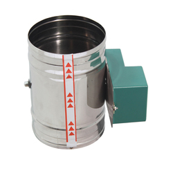 Ze stali nierdzewnej elektryczny zawór powietrza objętość powietrza regulacji zawór zwrotny wysoki moment obrotowy tłumik 100 150 200 250