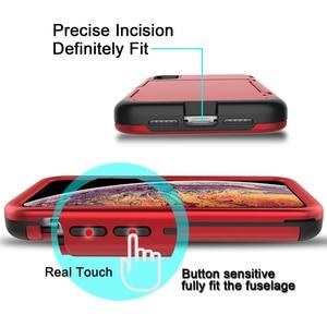 Image 2 - Pour iPhone Xs Max X 7 8 Plus étui portefeuille porte cartes support de fente caché miroir arrière robuste Protection du corps complet étui robuste
